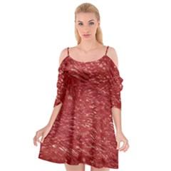 Thick Wet Paint E Cutout Spaghetti Strap Chiffon Dress