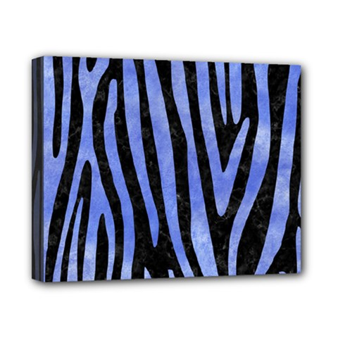 Skin4 Black Marble & Blue Watercolor (r) Canvas 10  X 8  (stretched) by trendistuff