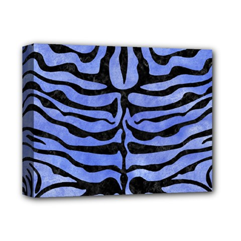 Skin2 Black Marble & Blue Watercolor (r) Deluxe Canvas 14  X 11  (stretched) by trendistuff
