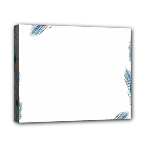 Beautiful Frame Made Up Of Blue Peacock Feathers Canvas 10  X 8  by Nexatart