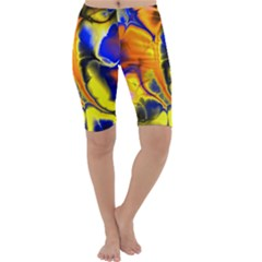 Fractal Art Pattern Cool Cropped Leggings