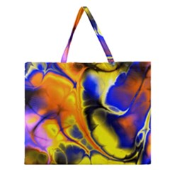 Fractal Art Pattern Cool Zipper Large Tote Bag