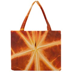Red Leaf Macro Detail Mini Tote Bag by Nexatart