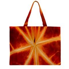 Red Leaf Macro Detail Zipper Mini Tote Bag by Nexatart