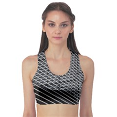Abstract Architecture Pattern Sports Bra