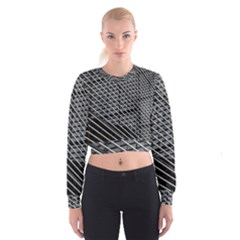 Abstract Architecture Pattern Cropped Sweatshirt