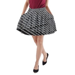 Abstract Architecture Pattern A Line Pocket Skirt by Nexatart