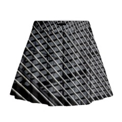 Abstract Architecture Pattern Mini Flare Skirt