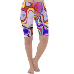 Colourful Abstract Background Design Cropped Leggings