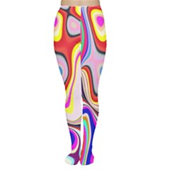 Colourful Abstract Background Design Women s Tights