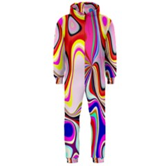 Colourful Abstract Background Design Hooded Jumpsuit (men)