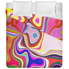 Colourful Abstract Background Design Duvet Cover Double Side (california King Size)