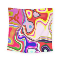 Colourful Abstract Background Design Square Tapestry (small) by Nexatart