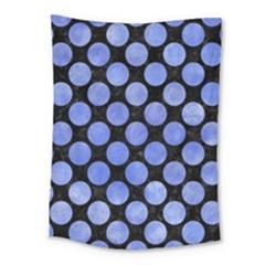 Circles2 Black Marble & Blue Watercolor Medium Tapestry by trendistuff