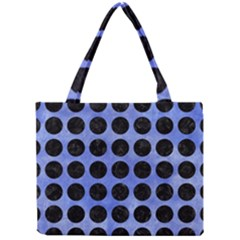 Circles1 Black Marble & Blue Watercolor (r) Mini Tote Bag by trendistuff