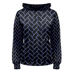 Brick2 Black Marble & Blue Watercolor Women s Pullover Hoodie