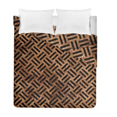 Woven2 Black Marble & Brown Stone (r) Duvet Cover Double Side (full/ Double Size) by trendistuff