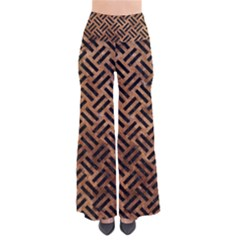 Woven2 Black Marble & Brown Stone (r) So Vintage Palazzo Pants by trendistuff
