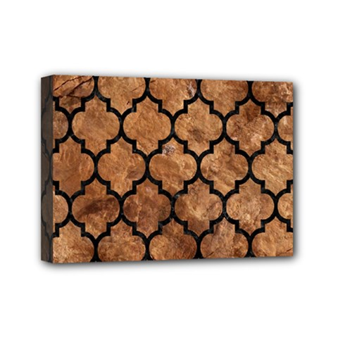 Tile1 Black Marble & Brown Stone (r) Mini Canvas 7  X 5  (stretched) by trendistuff