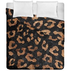 Skin5 Black Marble & Brown Stone (r) Duvet Cover Double Side (california King Size) by trendistuff