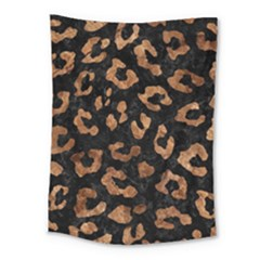 Skin5 Black Marble & Brown Stone (r) Medium Tapestry by trendistuff