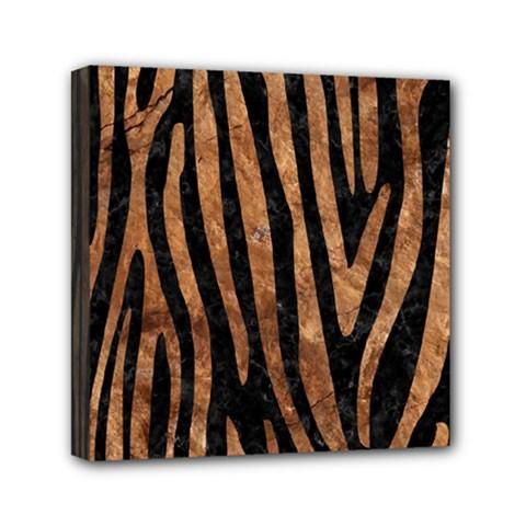 Skin4 Black Marble & Brown Stone (r) Mini Canvas 6  X 6  (stretched) by trendistuff