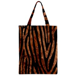Skin4 Black Marble & Brown Stone (r) Zipper Classic Tote Bag by trendistuff