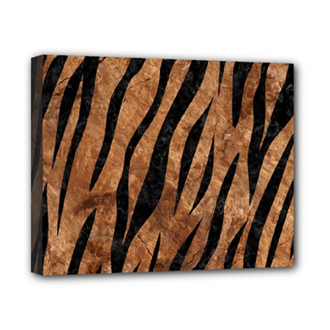 Skin3 Black Marble & Brown Stone (r) Canvas 10  X 8  (stretched) by trendistuff