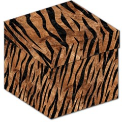Skin3 Black Marble & Brown Stone (r) Storage Stool 12  by trendistuff