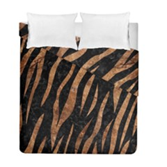 Skin3 Black Marble & Brown Stone Duvet Cover Double Side (full/ Double Size) by trendistuff