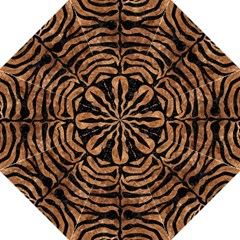 Skin2 Black Marble & Brown Stone (r) Folding Umbrella by trendistuff