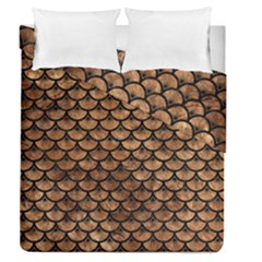 Scales3 Black Marble & Brown Stone (r) Duvet Cover Double Side (queen Size) by trendistuff
