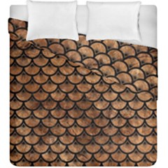 Scales3 Black Marble & Brown Stone (r) Duvet Cover Double Side (king Size) by trendistuff