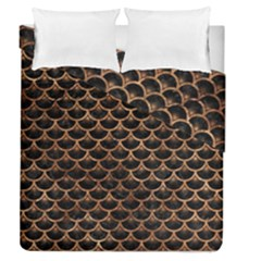 Scales3 Black Marble & Brown Stone Duvet Cover Double Side (queen Size) by trendistuff