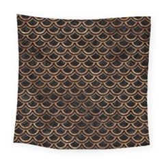 Scales2 Black Marble & Brown Stone Square Tapestry (large) by trendistuff