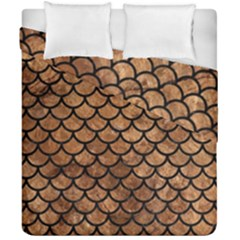 Scales1 Black Marble & Brown Stone (r) Duvet Cover Double Side (california King Size) by trendistuff