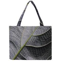 Leaf Detail Macro Of A Leaf Mini Tote Bag by Nexatart