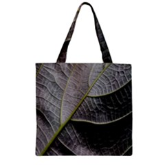 Leaf Detail Macro Of A Leaf Zipper Grocery Tote Bag by Nexatart