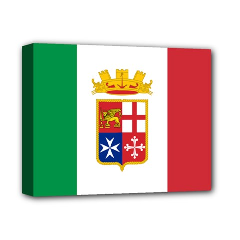 Naval Ensign Of Italy Deluxe Canvas 14  X 11  by abbeyz71