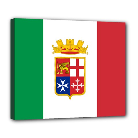 Naval Ensign Of Italy Deluxe Canvas 24  X 20   by abbeyz71