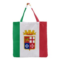 Naval Ensign Of Italy Grocery Tote Bag by abbeyz71