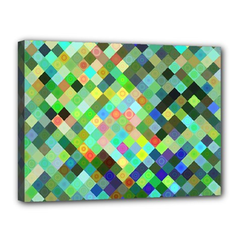 Pixel Pattern A Completely Seamless Background Design Canvas 16  X 12  by Nexatart