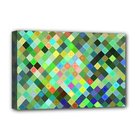 Pixel Pattern A Completely Seamless Background Design Deluxe Canvas 18  X 12   by Nexatart