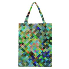 Pixel Pattern A Completely Seamless Background Design Classic Tote Bag by Nexatart