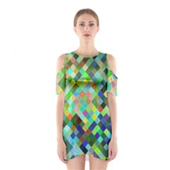 Pixel Pattern A Completely Seamless Background Design Shoulder Cutout One Piece