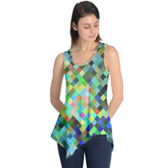 Pixel Pattern A Completely Seamless Background Design Sleeveless Tunic