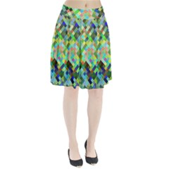 Pixel Pattern A Completely Seamless Background Design Pleated Skirt by Nexatart