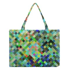 Pixel Pattern A Completely Seamless Background Design Medium Tote Bag