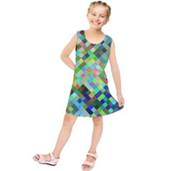 Pixel Pattern A Completely Seamless Background Design Kids  Tunic Dress
