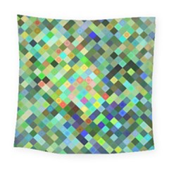 Pixel Pattern A Completely Seamless Background Design Square Tapestry (large) by Nexatart